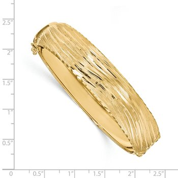 Leslie's 14K Polished Textured Bangle