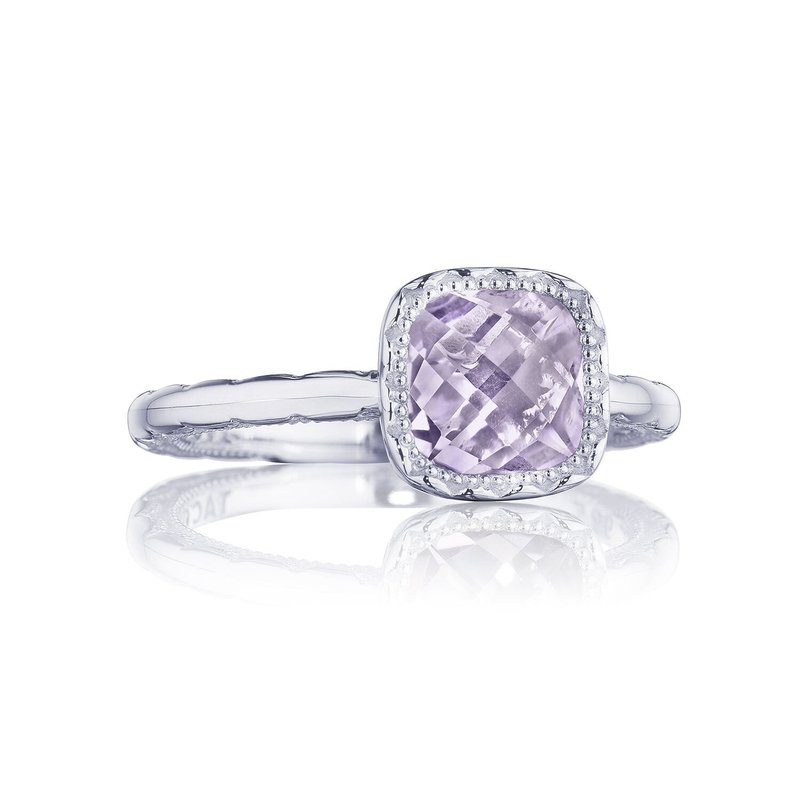 Tacori Fashion Petite Cushion Gem Ring with Rose Amethyst
