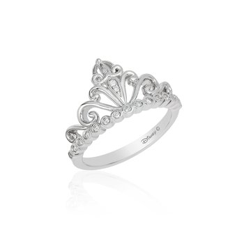 Sterling Silver 1/10CTW Cinderella Carriage Ring