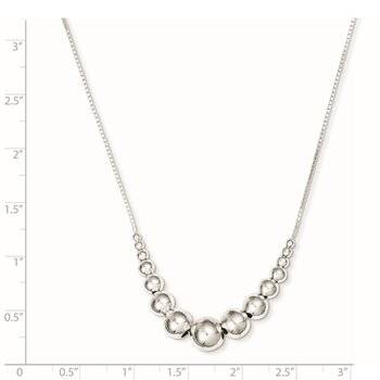 Sterling Silver Graduated Beads Necklace