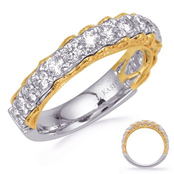 Yellow & White Gold Diamond Band