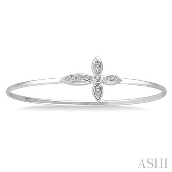 diamond cross flexi bangle