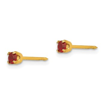 Inverness 14k 3mm July Crystal Birthstone Post Earrings