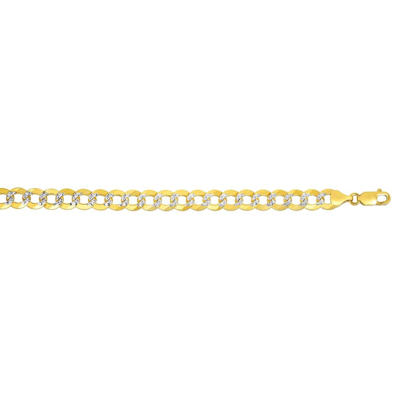 Royal Chain 14K Gold 8.3mm White Pave Curb Chain