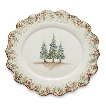 Scalloped Oval Plate