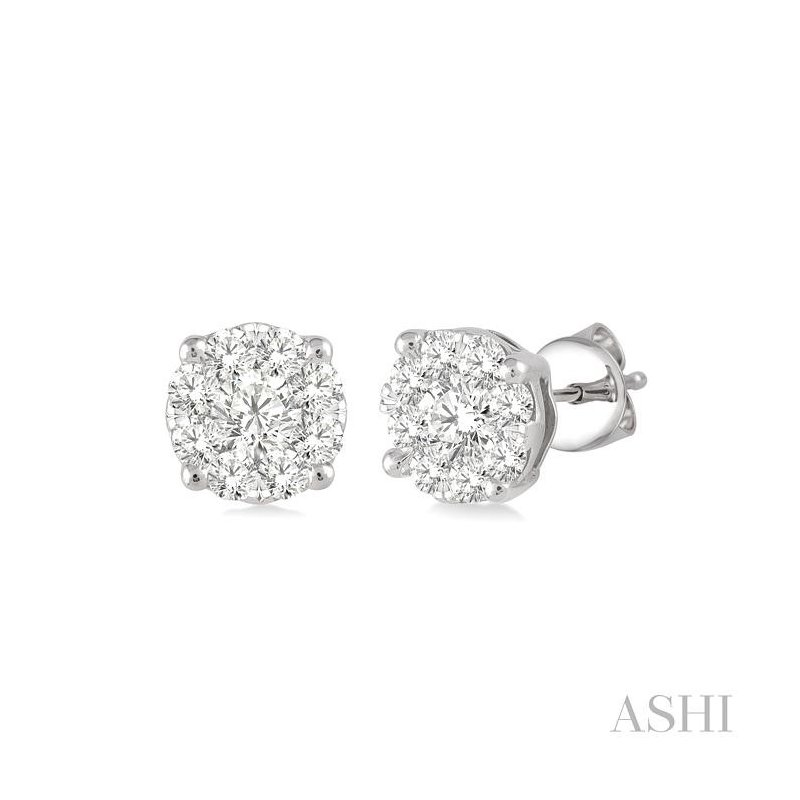 Gemstone Collection lovebright essential diamond earrings