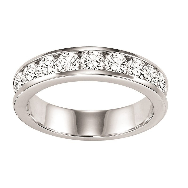 Mixables 14K Diamond Channel Set Band 1 ctw