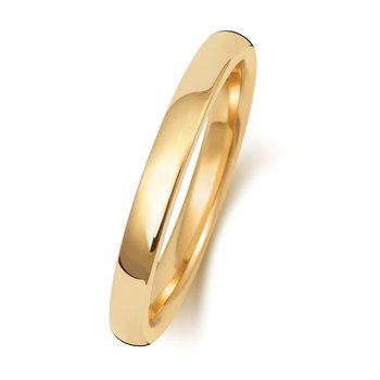 9Ct Yellow Gold 2mm Soft Court Wedding Ring