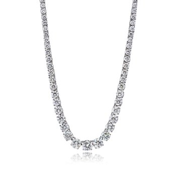 "13.80 tcw. 18"" Graduated Necklace"