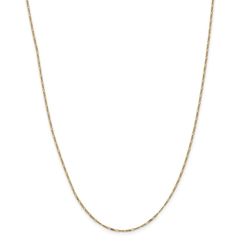 Quality Gold 14k 1.25mm Flat Figaro Pendant Chain