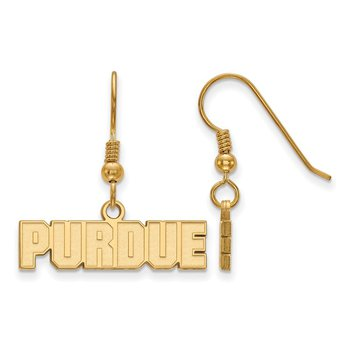 Gold-Plated Sterling Silver Purdue University NCAA Earrings