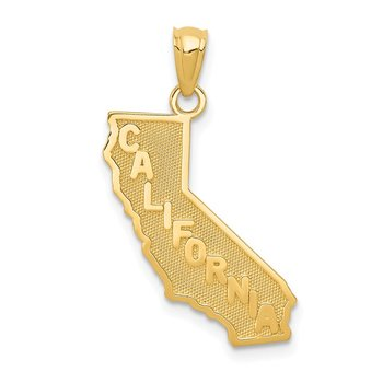 14k CALIFORNIA State Map Pendant