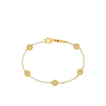18KT GOLD BRACELET WITH DIAMOND STATIONS