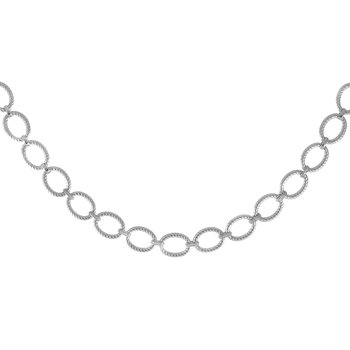 Sterling Silver Italian Cable Necklace