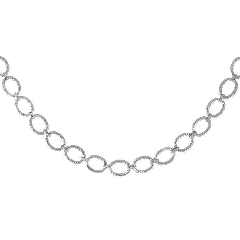 Royal Chain Sterling Silver Italian Cable Necklace