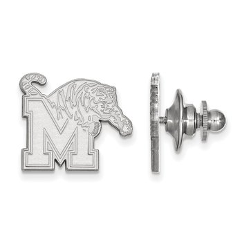 Sterling Silver University of Memphis NCAA Lapel Pin