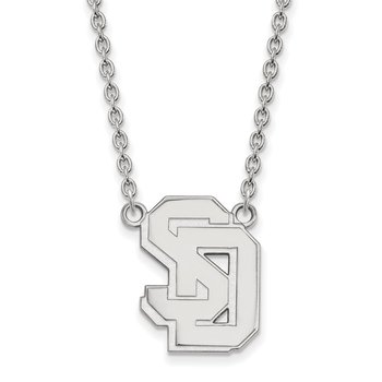 Sterling Silver University of South Dakota NCAA Necklace