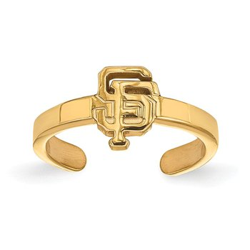 Gold-Plated Sterling Silver San Francisco Giants MLB Ring