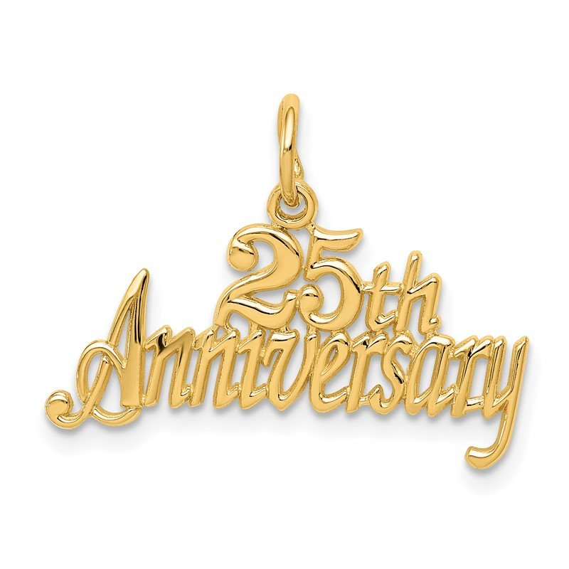 Quality Gold 14k 25th ANNIVERSARY Charm