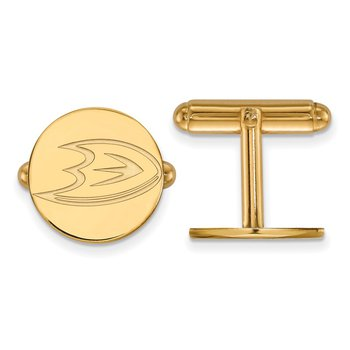 Gold-Plated Sterling Silver Anaheim Ducks NHL Cuff Links