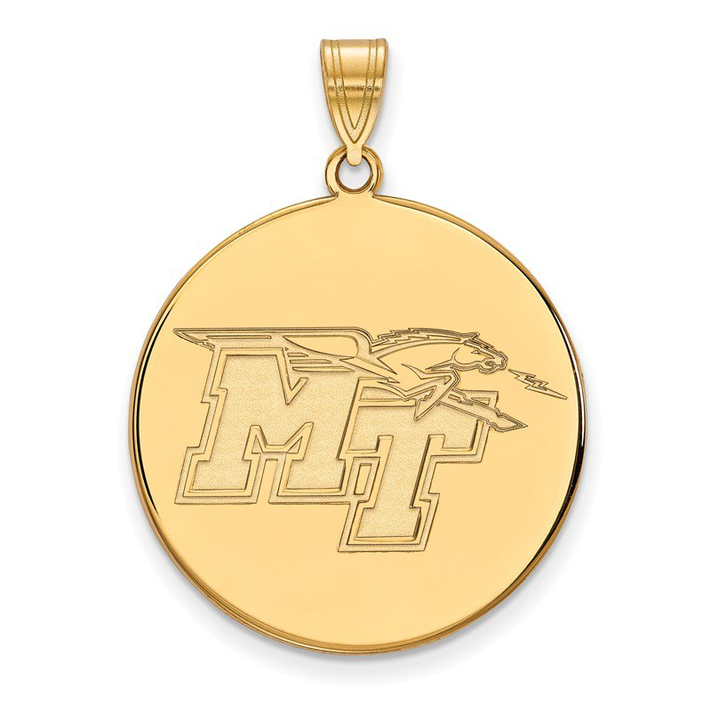 NCAA Gold-Plated Sterling Silver Middle Tennessee State University NCAA Pendant