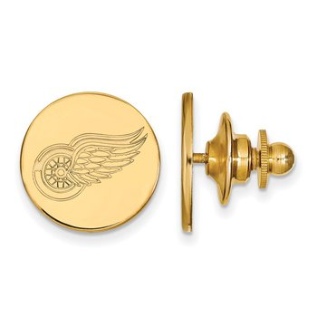 Gold Detroit Red Wings NHL Lapel Pin