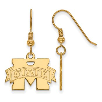 Gold-Plated Sterling Silver Mississippi State University NCAA Earrings