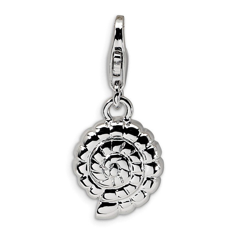 J.F. Kruse Signature Collection Sterling Silver RH Polished Shell w/Lobster Clasp Charm