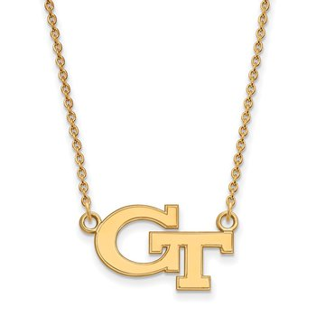 Gold-Plated Sterling Silver Georgia Institute of Technology NCAA Necklace