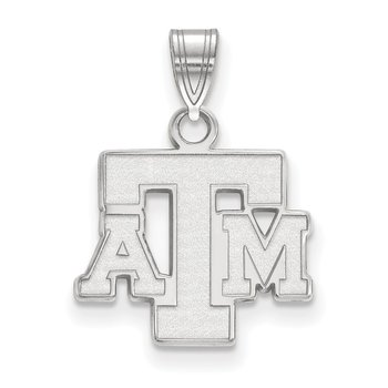 Sterling Silver Texas A&M University NCAA Pendant