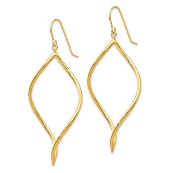 14k Twisted Drop Earrings