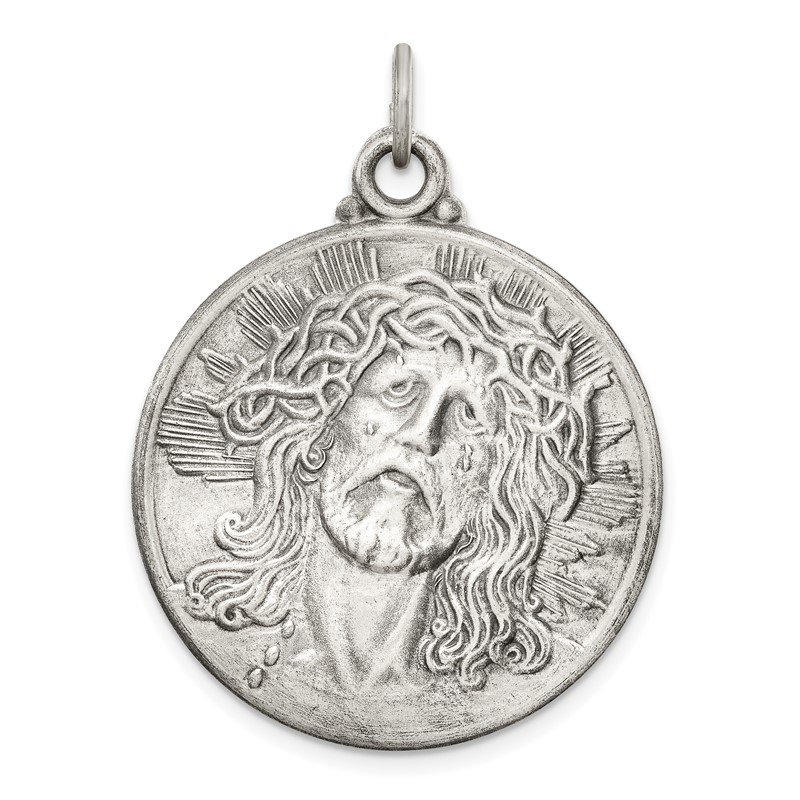 Quality Gold Sterling Silver Antiqued Ecce Homo Medal