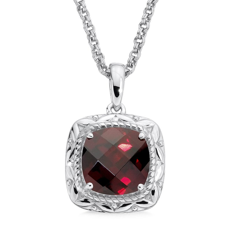 Naser diamonds colore sg sterling silver garnet pendant colore sg sterling silver garnet pendant aloadofball Images