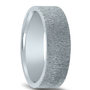 N17214 - Men's Wedding Band with Organic Finish