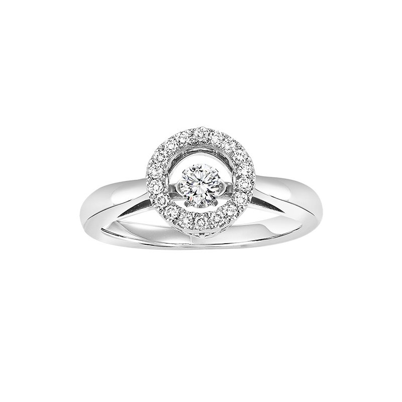 Rhythm of Love 10K Diamond Rhythm Of Love Ring 1/4 ctw