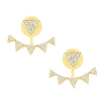 14K Diamond Earrings and Jackets