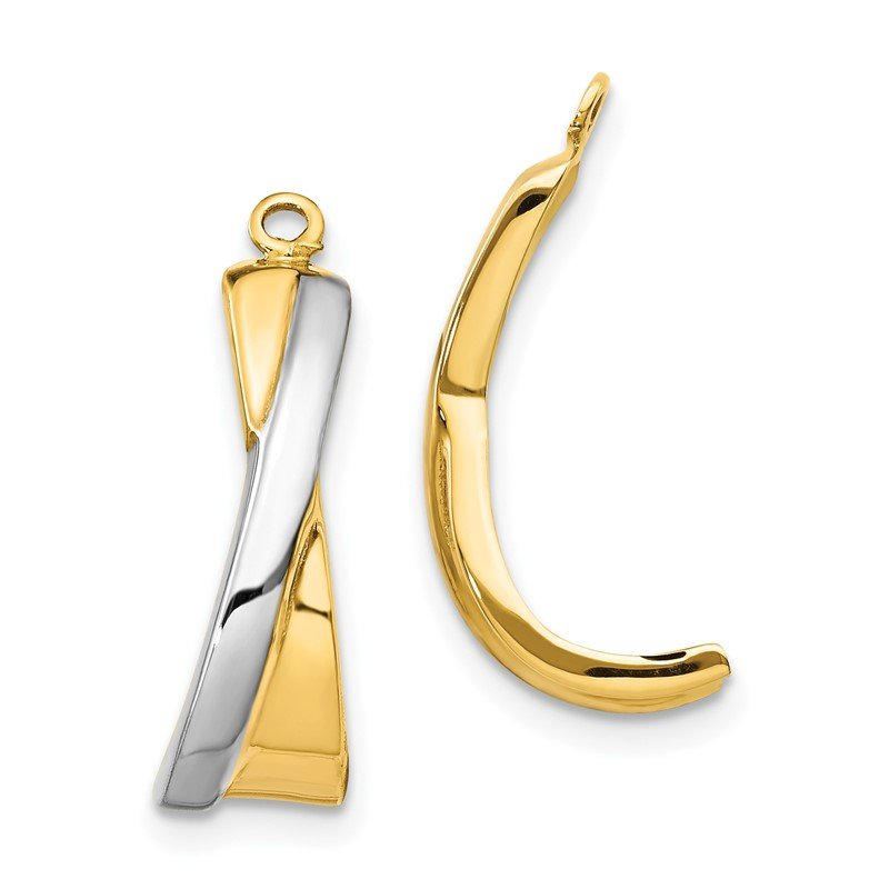 Quality Gold 14k Crossover J Hoop Earring Jackets