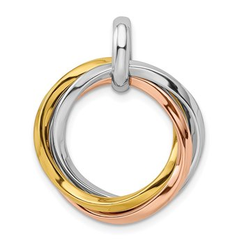 Sterling Silver Gold & Rose Gold-plated Rhodium-plated Pendant