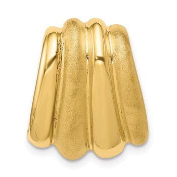 14k Polished & Satin Chain Slide