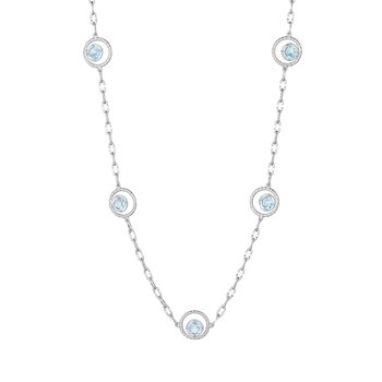 Floating Drops Necklace featuring Sky Blue Topaz