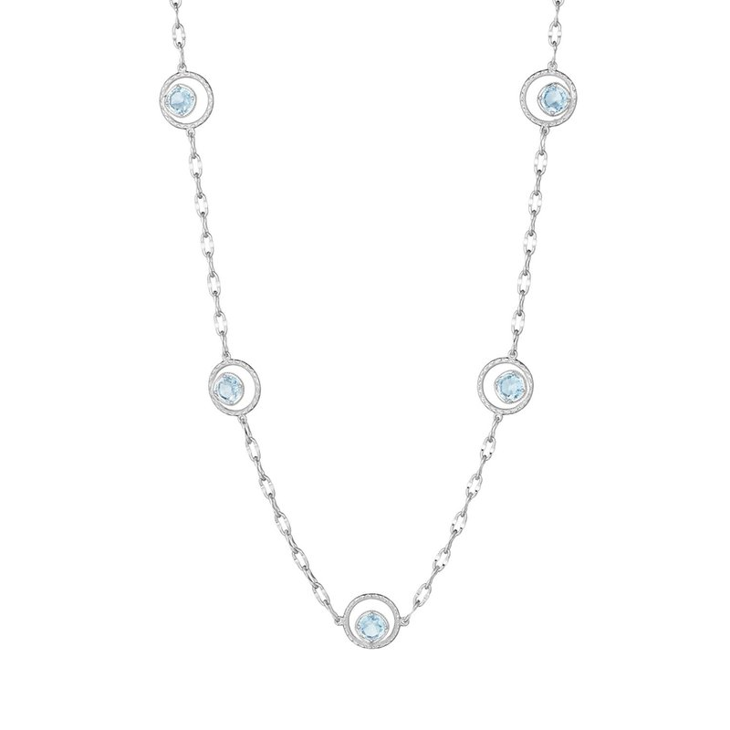 Tacori Fashion Floating Drops Necklace featuring Sky Blue Topaz