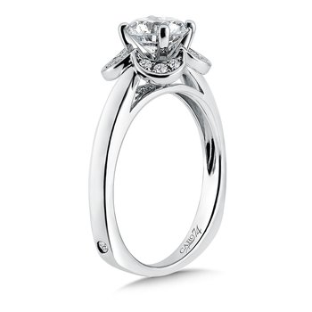 Inspired Vintage Collection Halo Engagement Ring in 14K White Gold with Platinum Head (1ct. tw.)