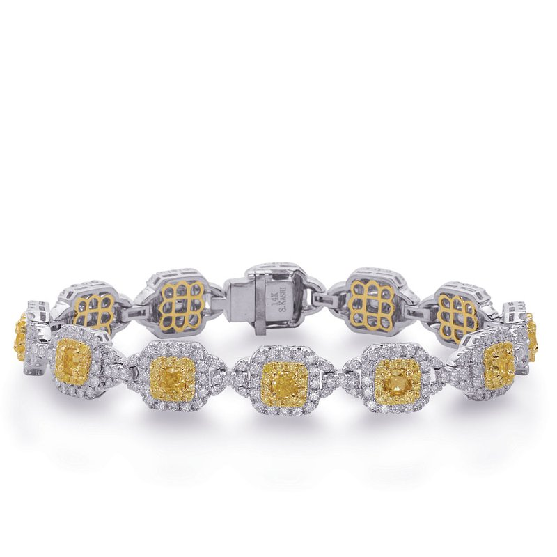 S. Kashi  & Sons Yellow & White Gold Yellow Dia Bracelet