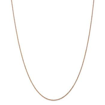 14k Rose Gold .8mm Baby Rope Chain