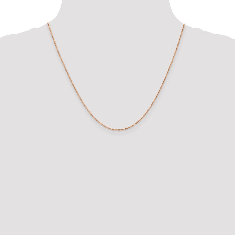 Quality Gold 14k Rose Gold .8mm Baby Rope Chain