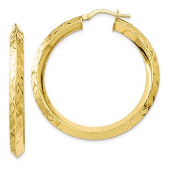 Leslie's 10k Gold Polished D/C Hoop Earrings