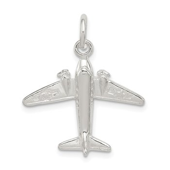 Sterling Silver Jet Charm