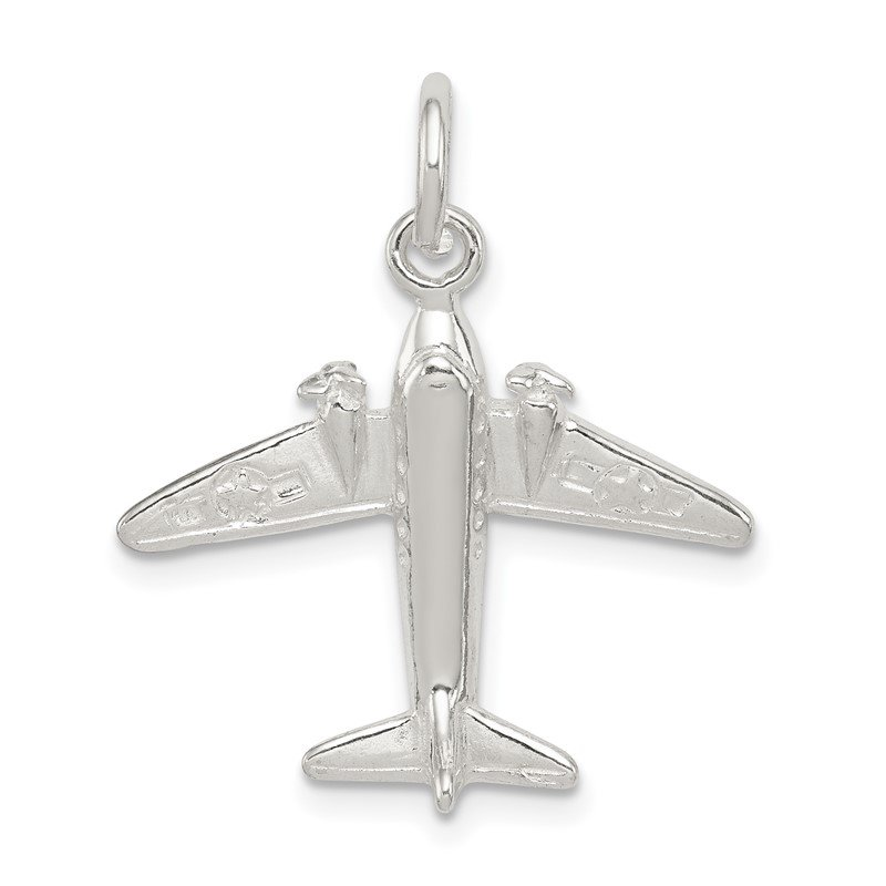 J.F. Kruse Signature Collection Sterling Silver Jet Charm