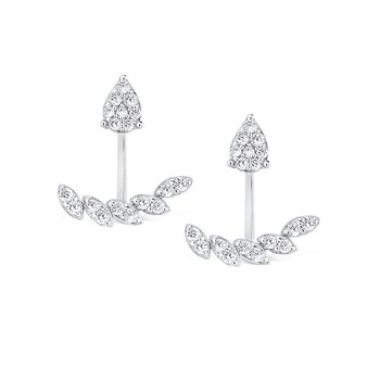 14K Gold and Diamond Earring Studs/Jackets