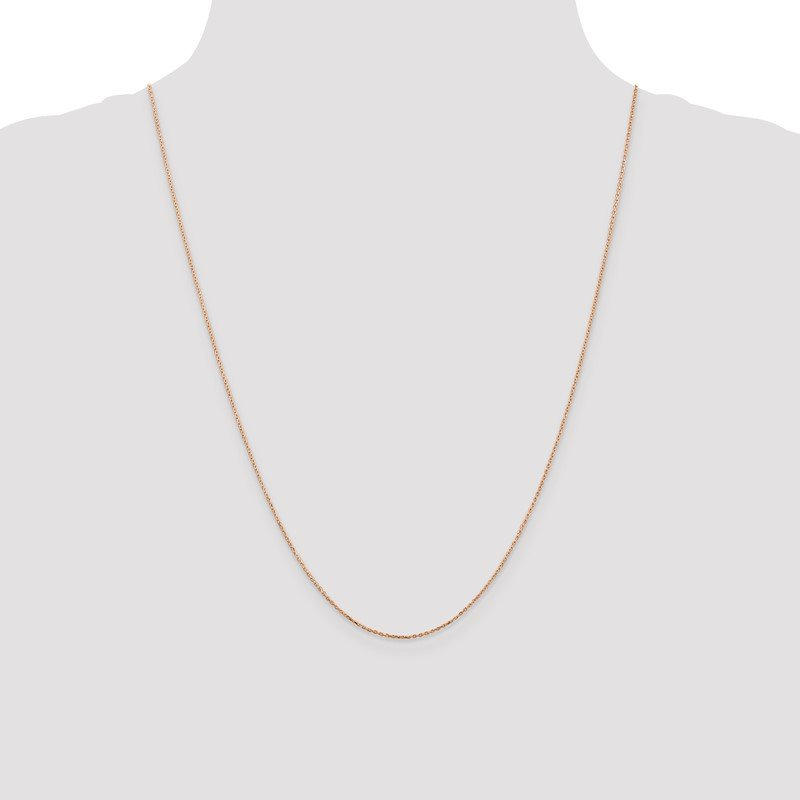 Quality Gold 14k Rose Gold .8mm D/C Cable Chain